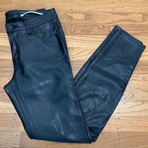 Zara Woman faux leather skinny pants sz S